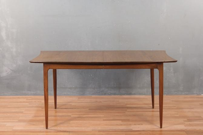 Classic Mid Century Walnut Dining Table with Leaf