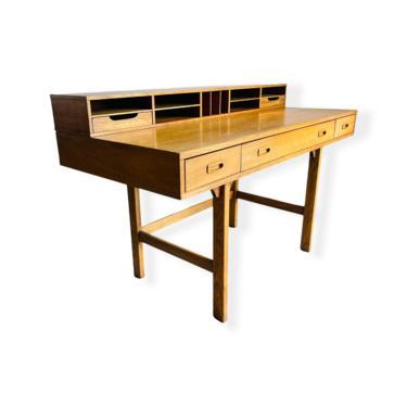 Danish Modern Teak Flip Top Desk by Peter Lovig Nielsen