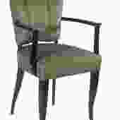 Eugene Printz pair of ebonized armchairs (#1501)