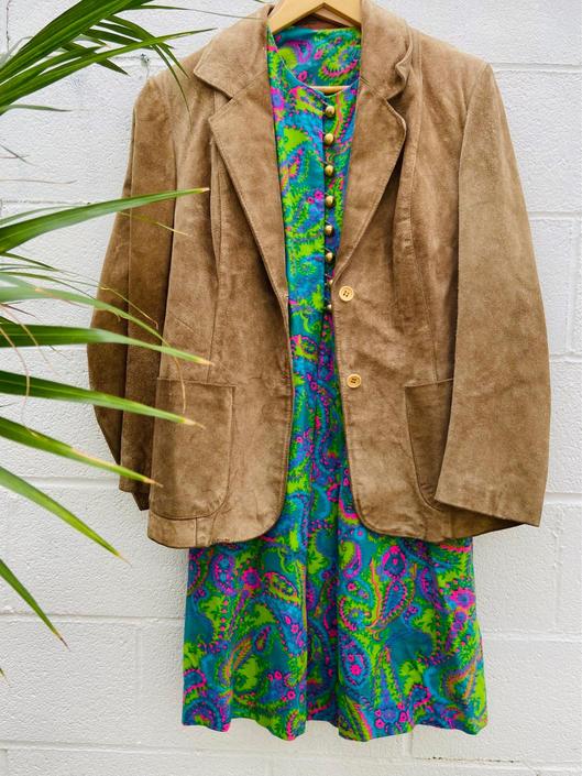 Tan Suede Blazer Jacket