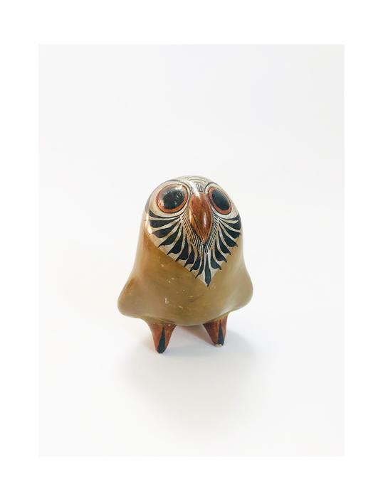 Vintage Petite Tonala Pottery Owl / Mexican Folk Art by SergeantSailor