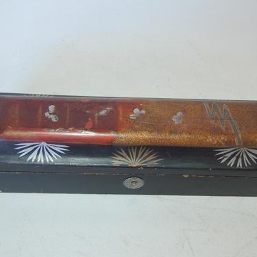 Antique Lacquered Japenese Wood Keepsake Trinket Box, Circa 1920s by HarveysonBeverly