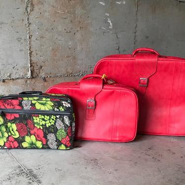 Set of 3 Vintage 1970s Samsonite Sidekick Suitcases by DesertCactusVintage