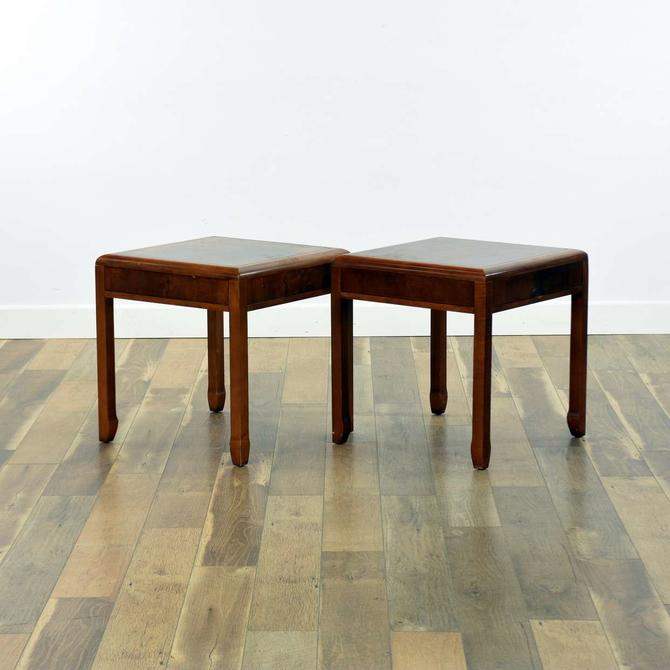 Pair Of Art Deco End Tables W Spade Legs
