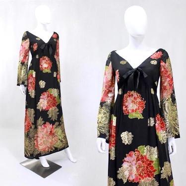 RARE 1960s Malcom Starr Dress - Elinor Simmons for Malcom Starr - Vintage Designer Dress - Chrysanthemum Novelty Print Dress | Size Small by VeraciousVintageCo
