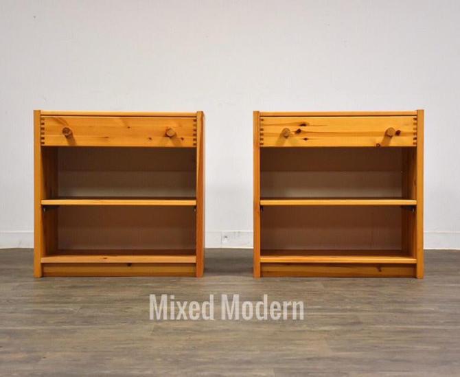 Idé Møbler Solid Pine Nightstands- a pair by mixedmodern1