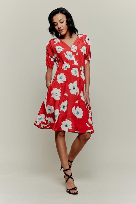 The Market Dress | Rouge Poppies