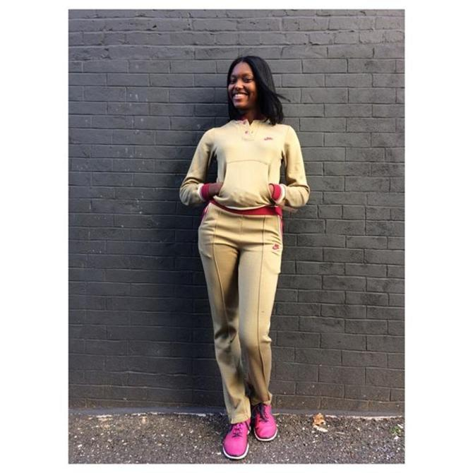 @anaiyahilai in her new 1970s new old stock track set #meepsdc #customerlove #1970s #vintagenike #dmv #fallfashion