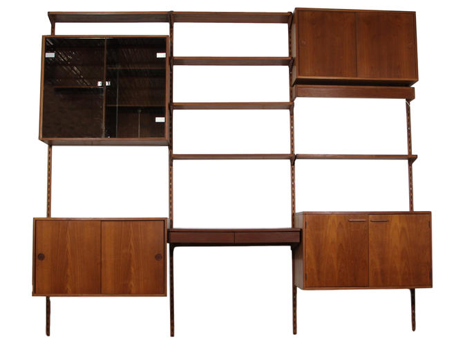 Kai Kristiansen Teak 3 Bay Wall Unit by RetroPassion21