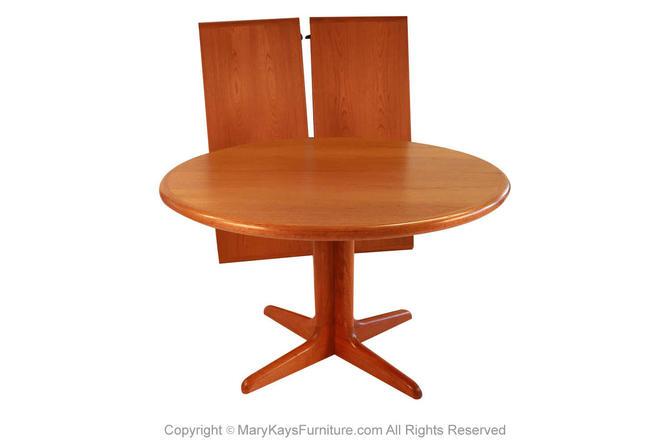 Mid Century Danish Teak Extendable Dining Table by Marykaysfurniture