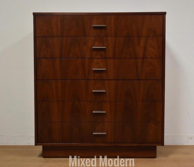 Walnut Modern Tall Dresser by Dixie by mixedmodern1