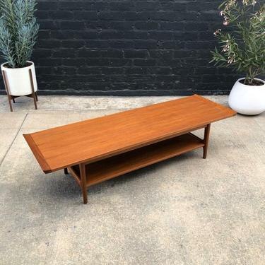 Danish Modern Teak Two-Tier Coffee Table with Raised Lip Detail, c.1960's by VintageSupplyLA