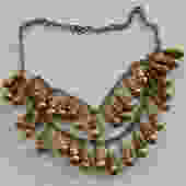 Antique Etruscan Revival Brass Bauble Necklace by LegendaryBeast