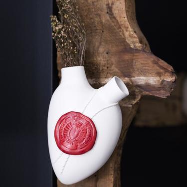 'Sigil' Porcelain Anatomical Heart Wall Vase