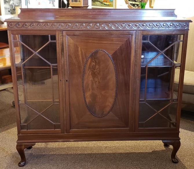Item #S98 Vintage Mahogany Display Cabinet c.1920