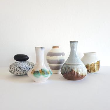 Vintage Pottery Bud Vases to Mix and Match by CivilizedCrow