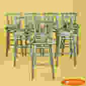 Set of 8 Rattan Barstools