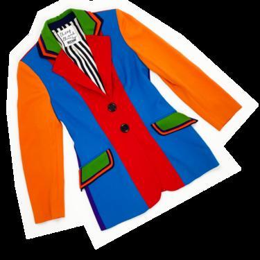 Moschino 90s colorblock blazer