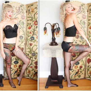 1960s Hosiery // Cheetah Print & Fishnet Stockings // vintage 60s hosiery by dethrosevintage