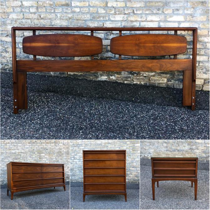 Lane Rhythm Bedroom Furniturewe Have A Small Collection Of Pieces From Lane Furniture's Popular 1960s Rhythm Collection. There Is A King Headboard, Six-drawer Dresser, Five-drawer Chest And A Nightstand. Details In The Store.kent Coffey Simplex Ii Dresser