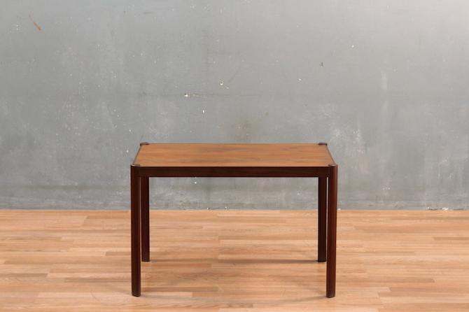 Compact Danish Modern Dark Teak Coffee Table