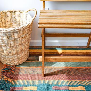 Large Vintage Woven Wool Horse Blanket / Rug by PortlandRevibe