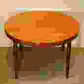 17501 Kai Kristiansen Designed Round Dining Table, circa 1960