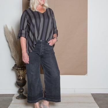 Pamela Top - Woven Indian Stripe