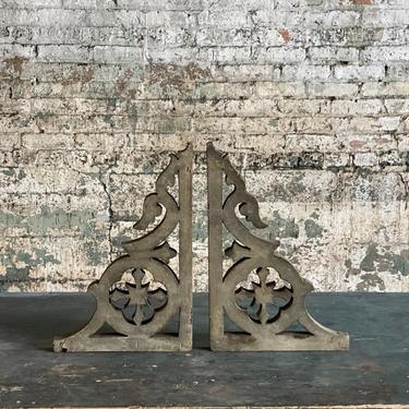 1890s Pair of Victorian Corbels Architectural Salvage by NorthGroveAntiques