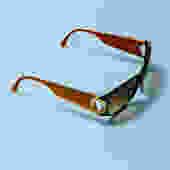 CHRISTIAN DIOR 90s Black + Orange Oversized Sunglasses