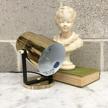 Vintage Spotlight Retro 1980s Contemporary + Gold Metal + Table Lamp + Accent or Mood Lighting + Adjustable Shade + Home and Table Decor by RetrospectVintage215