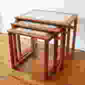 Mid Century Modern Danish Teak Nesting Tables