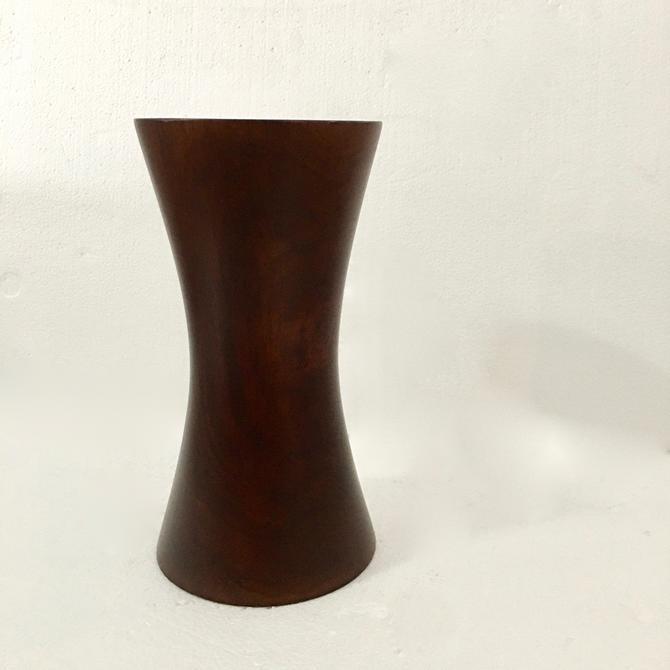 A Beautiful Tall Vintage Mid Century Modern Danish Hardwood Hand turned Vase by modern2120