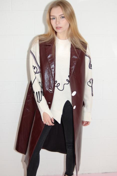 Bordeaux Tailored Vest in Textured Vinyl