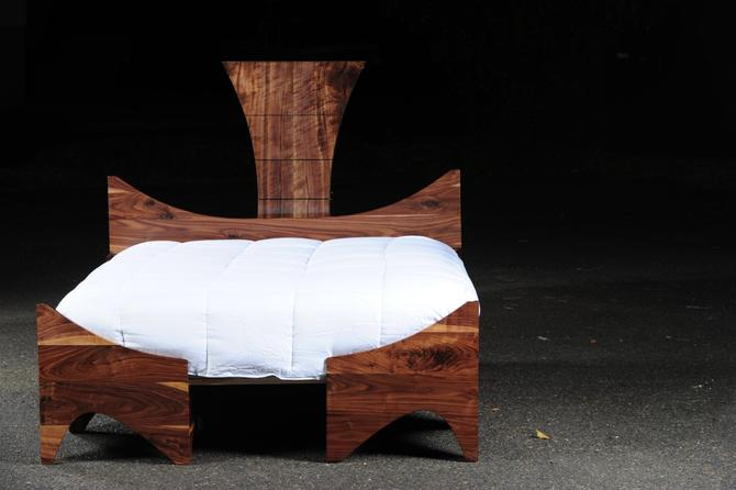 Walnut Bed by ImagoFurniture