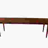 Mid Century Slatted Wood Bench coffee table George Nelson Style by Marykaysfurniture
