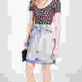 Vintage 1990s Acid Wash Denim Skirt by UnfadedEra