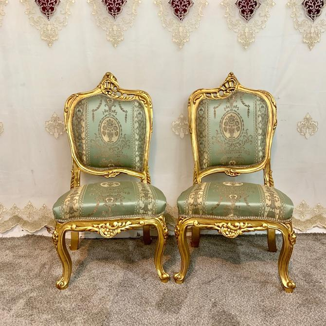 Vintage Chair French Chair Vintage Furniture Settee Interior Designer 2 Chairs Available Baroque Furniture Rococo Vintage Sofa French Settee by SittinPrettyByMyleen