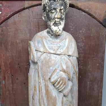 1800's Santos Saint Statue,  Antique Hand Carved, Vintage Religious Church Decor, Vintage Religious by exploremag