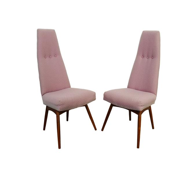 Adrian Pearsall High Back Dining Chairs Craft Associates 2051-C Chair Mid Century Modern by HearthsideHome