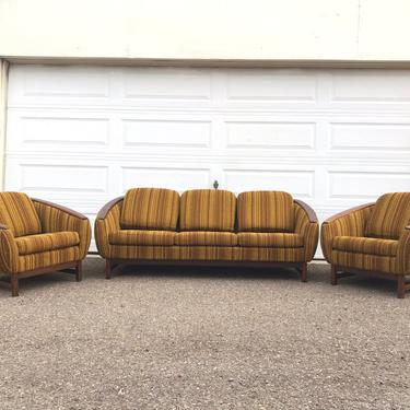 Mid Century Modern Sofa And Lounge Chairs Seating Set R. Huber.  Free Continental us Shipping by ModernFlamingo