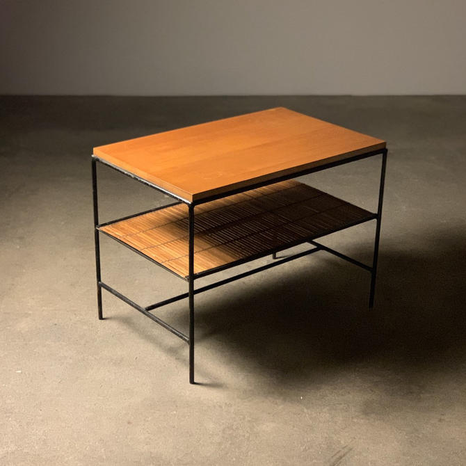 Paul McCobb Planner Group Iron Lamp Table by midcenTree