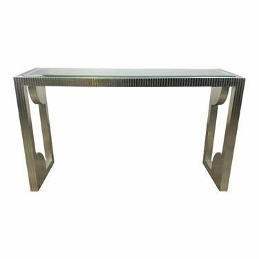 Currey & Co. Modern Silver Foil Morneau Console Table