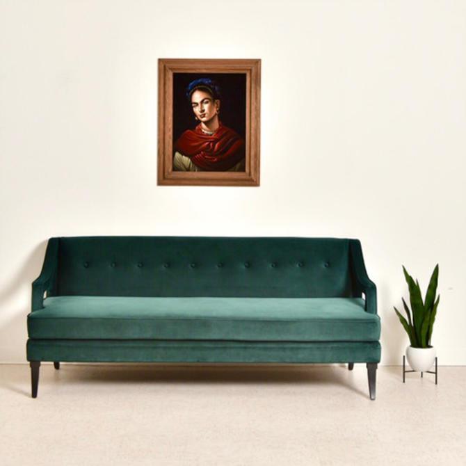 Rowena Dark Green Regency Sofa