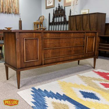 Mid-Century Modern walnut 9-drawer dresser from The Simplicité collection by Kent Coffey