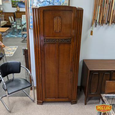 Antique British Art Deco wardrobe by Harris Lebus Furniture, London