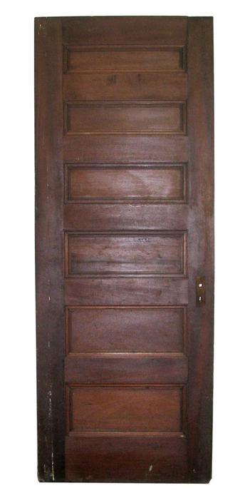 Antique 6 Pane Wood Passage Door 83.75 H