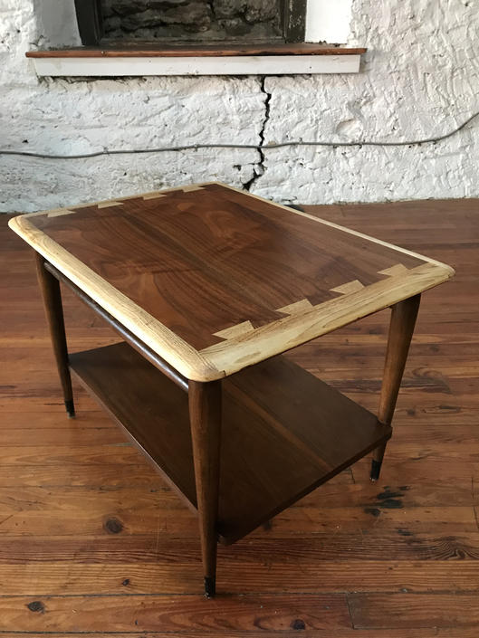 Mid century end table Lane dovetail top side table mid century modern side table by VintaDelphia