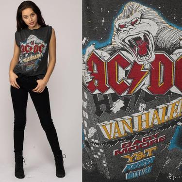 Metal Tank Top 80s MONSTERS of ROCK Band Tshirt 1984 Van Halen Shirt Motley Crue Tee Concert ACDC Heavy Metal T Shirt Vintage Medium by ShopExile