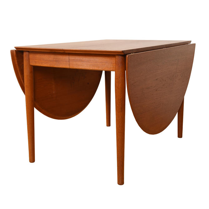 Super Versatile & Expanding — Danish Teak Peter Hvidt Round Drop-Leaf Dining Table
